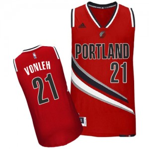 Maillot NBA Swingman Noah Vonleh #21 Portland Trail Blazers Alternate Rouge - Homme