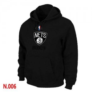 Sweat à capuche NBA Brooklyn Nets Noir - Homme