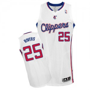 Maillot Adidas Blanc Home Authentic Los Angeles Clippers - Austin Rivers #25 - Homme