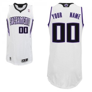 Maillot NBA Authentic Personnalisé Sacramento Kings Home Blanc - Enfants