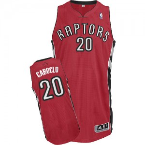 Maillot NBA Rouge Bruno Caboclo #20 Toronto Raptors Road Authentic Homme Adidas