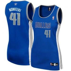 Maillot NBA Authentic Dirk Nowitzki #41 Dallas Mavericks Alternate Bleu marin - Femme