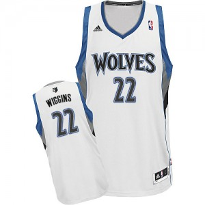 Maillot NBA Blanc Andrew Wiggins #22 Minnesota Timberwolves Home Swingman Homme Adidas
