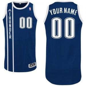 Oklahoma City Thunder Personnalisé Adidas Alternate Bleu marin Maillot d'équipe de NBA la meilleure qualité - Authentic pour Homme