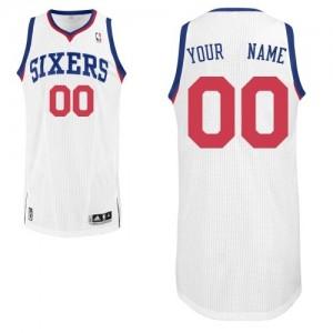 Maillot NBA Philadelphia 76ers Personnalisé Authentic Blanc Adidas Home - Homme