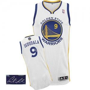 Golden State Warriors Andre Iguodala #9 Home Autographed Authentic Maillot d'équipe de NBA - Blanc pour Homme