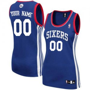 Philadelphia 76ers Personnalisé Adidas Alternate Bleu royal Maillot d'équipe de NBA Le meilleur cadeau - Authentic pour Femme