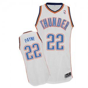 Maillot NBA Oklahoma City Thunder #22 Cameron Payne Blanc Adidas Authentic Home - Homme