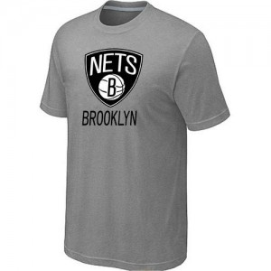 T-Shirts NBA Brooklyn Nets Big & Tall Gris - Homme