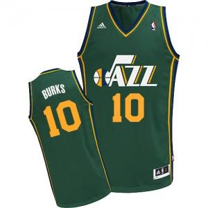 Maillot Adidas Vert Alternate Swingman Utah Jazz - Alec Burks #10 - Homme