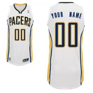 Indiana Pacers Authentic Personnalisé Home Maillot d'équipe de NBA - Blanc pour Enfants