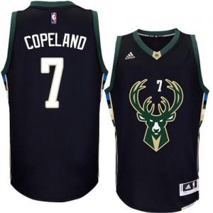 Milwaukee Bucks #7 Adidas Alternate Noir Authentic Maillot d'équipe de NBA en ligne - Chris Copeland pour Homme
