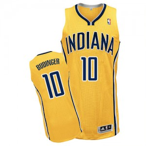 Indiana Pacers Chase Budinger #10 Alternate Authentic Maillot d'équipe de NBA - Or pour Homme