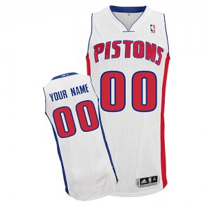 Maillot NBA Detroit Pistons Personnalisé Authentic Blanc Adidas Home - Enfants