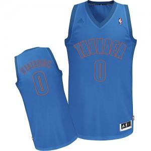 Maillot NBA Swingman Russell Westbrook #0 Oklahoma City Thunder Big Color Fashion Bleu - Homme