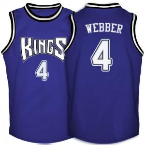 Maillot Swingman Sacramento Kings NBA Throwback Violet - #4 Chris Webber - Homme