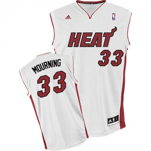 Maillot Adidas Blanc Home Swingman Miami Heat - Alonzo Mourning #33 - Homme