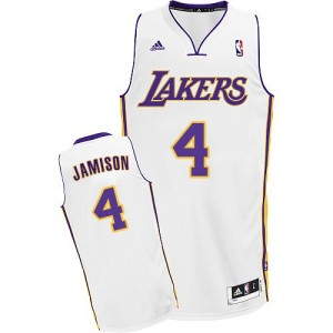 Los Angeles Lakers Byron Scott #4 Alternate Swingman Maillot d'équipe de NBA - Blanc pour Homme