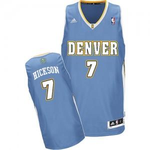 Denver Nuggets JJ Hickson #7 Road Swingman Maillot d'équipe de NBA - Bleu clair pour Homme
