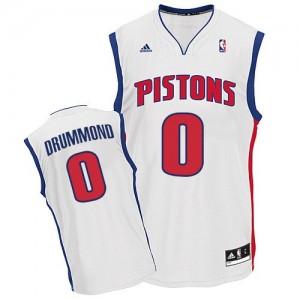 Maillot NBA Swingman Andre Drummond #0 Detroit Pistons Home Blanc - Homme