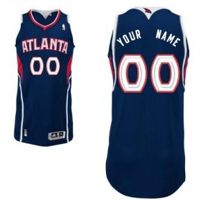 Maillot Adidas Bleu marin Road Atlanta Hawks - Authentic Personnalisé - Enfants