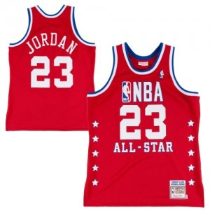 Maillot Mitchell and Ness Rouge Throwback 1992 All Star Authentic Chicago Bulls - Michael Jordan #23 - Homme