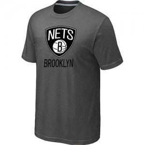 T-Shirts NBA Brooklyn Nets Big & Tall Gris foncé - Homme