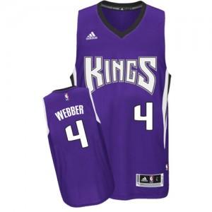 Maillot Swingman Sacramento Kings NBA Road Violet - #4 Chris Webber - Homme