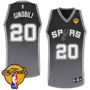 Maillot Authentic San Antonio Spurs NBA Resonate Fashion Finals Patch Noir - #20 Manu Ginobili - Homme