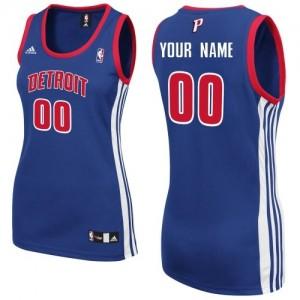 Maillot NBA Swingman Personnalisé Detroit Pistons Road Bleu royal - Femme