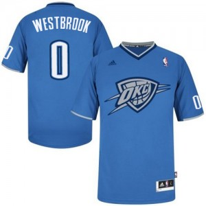 Maillot NBA Swingman Russell Westbrook #0 Oklahoma City Thunder 2013 Christmas Day Bleu - Homme
