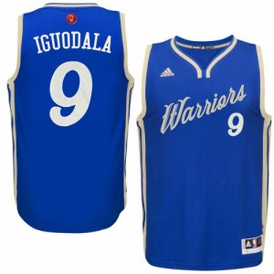 Golden State Warriors #9 Adidas 2015-16 Christmas Day Bleu royal Authentic Maillot d'équipe de NBA sortie magasin - Andre Iguodala pour Homme