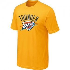 T-shirt principal de logo Oklahoma City Thunder NBA Big & Tall Jaune - Homme