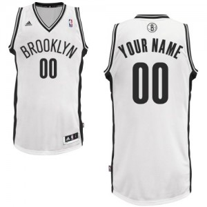 Maillot Brooklyn Nets NBA Home Blanc - Personnalisé Swingman - Enfants