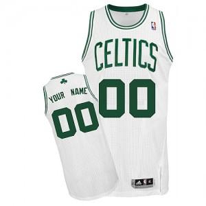 Maillot NBA Boston Celtics Personnalisé Authentic Blanc Adidas Home - Homme