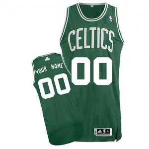 Maillot NBA Authentic Personnalisé Boston Celtics Road Vert (No Blanc) - Homme
