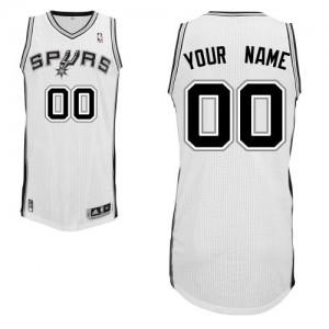Maillot NBA San Antonio Spurs Personnalisé Authentic Blanc Adidas Home - Homme