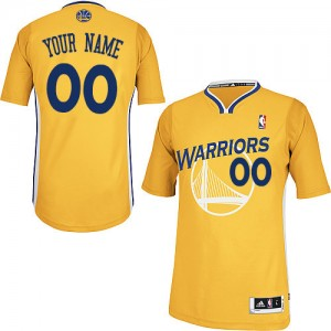 Maillot NBA Golden State Warriors Personnalisé Authentic Or Adidas Alternate - Homme