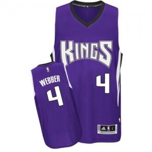 Maillot NBA Authentic Chris Webber #4 Sacramento Kings Road Violet - Homme