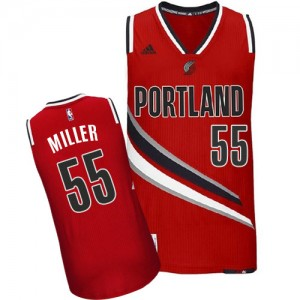 Maillot Adidas Rouge Alternate Swingman Portland Trail Blazers - Mike Miller #55 - Homme