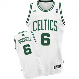 Maillot NBA Boston Celtics #6 Bill Russell Blanc Adidas Swingman Home - Homme
