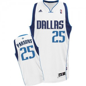 Dallas Mavericks Chandler Parsons #25 Home Swingman Maillot d'équipe de NBA - Blanc pour Homme