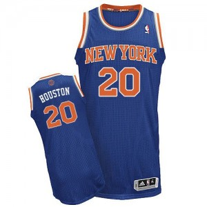 Maillot NBA Authentic Allan Houston #20 New York Knicks Road Bleu royal - Homme