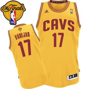 Maillot NBA Cleveland Cavaliers #17 Anderson Varejao Or Adidas Swingman Alternate 2015 The Finals Patch - Homme