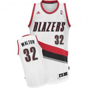 Maillot NBA Swingman Bill Walton #32 Portland Trail Blazers Home Blanc - Homme