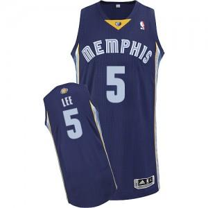 Memphis Grizzlies #5 Adidas Road Bleu marin Authentic Maillot d'équipe de NBA boutique en ligne - Courtney Lee pour Homme