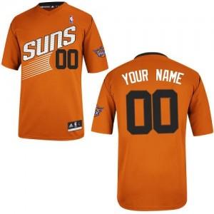 Phoenix Suns Authentic Personnalisé Alternate Maillot d'équipe de NBA - Orange pour Femme