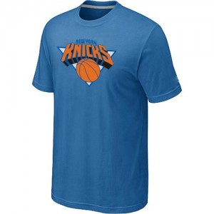 T-Shirts NBA New York Knicks Bleu clair Big & Tall - Homme