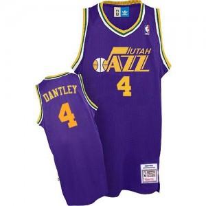 Utah Jazz #4 Adidas Throwback Violet Authentic Maillot d'équipe de NBA magasin d'usine - Adrian Dantley pour Homme