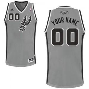 Maillot NBA San Antonio Spurs Personnalisé Swingman Gris argenté Adidas Alternate - Homme